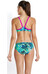 speedo Endurance+ Junglewave Allover 2 Piece Rippleback Women fluo green/deep peri/aquarium